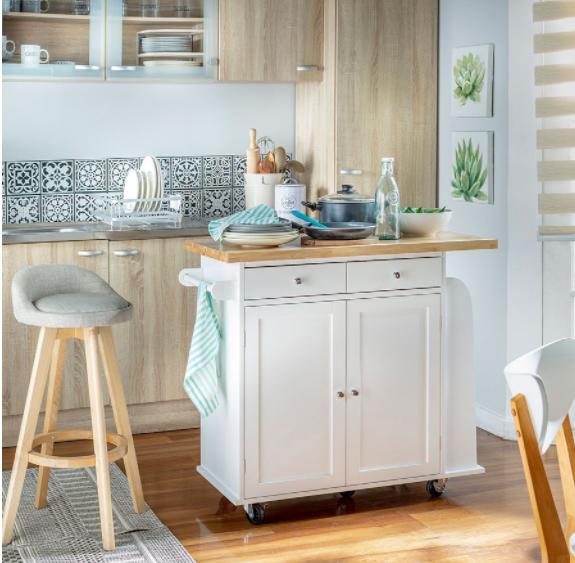 Decorar cocina pequeña con isla auxiliar