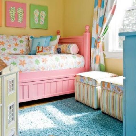 cuartos para niña de 11 años modernos coloridos
