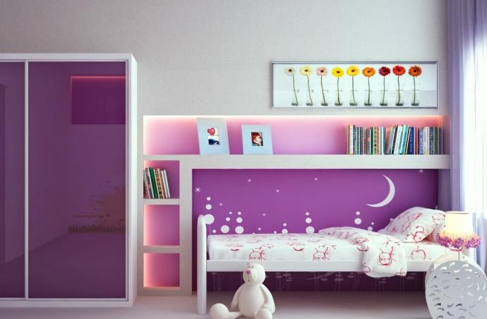 cuartos para niña de 11 años modernos luminosa