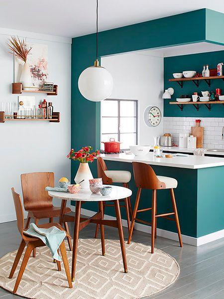 decoracion cocina americana colorida
