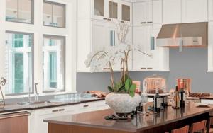 Cocinas con paredes grises