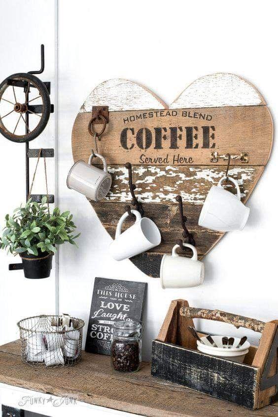 Decora las paredes con la temática de café