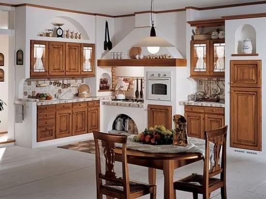 cocina mexicana blanca y madera