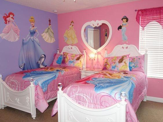 Cuartos pintados bonitos estilo princesas