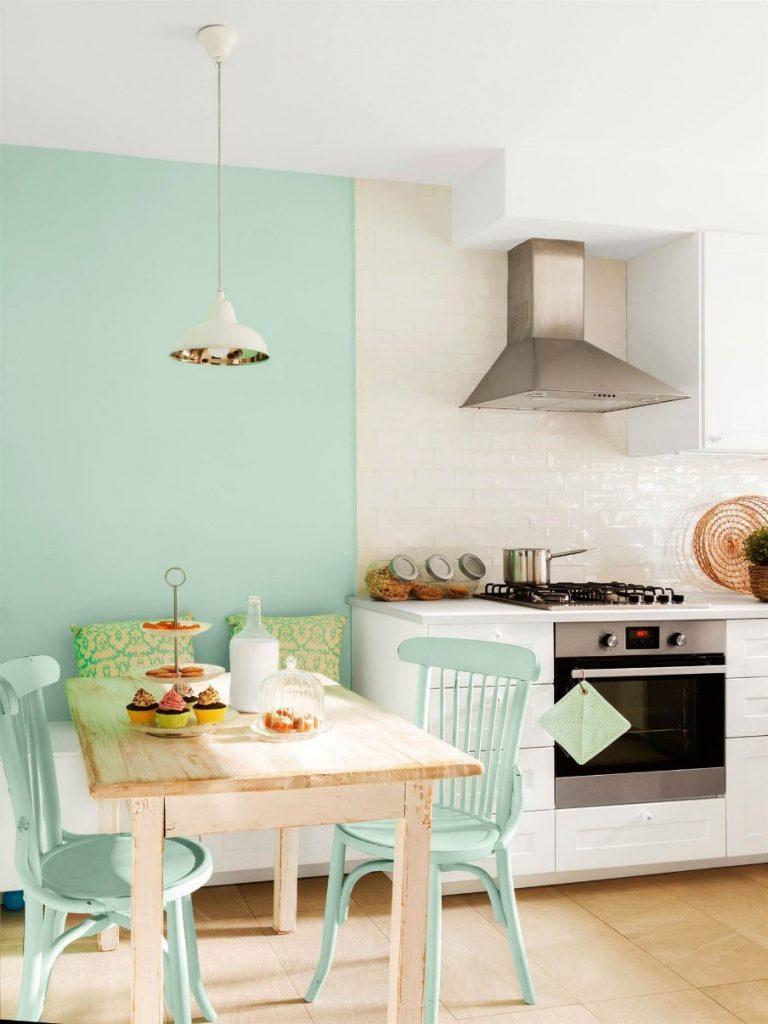 ideas para pintar paredes de cocina verdes