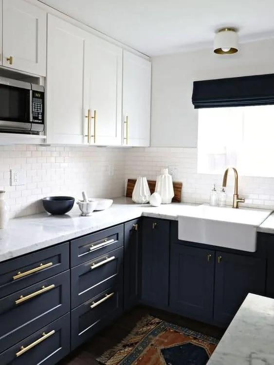 ideas para pintar cocina pequeña blanco y negro