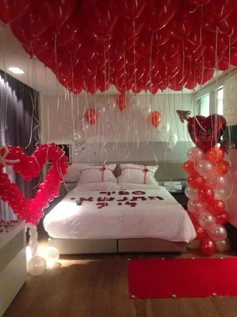 techos de cuartos decorados con globos