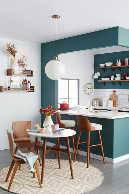 Cocinas comedor pequeñas modernas verdes