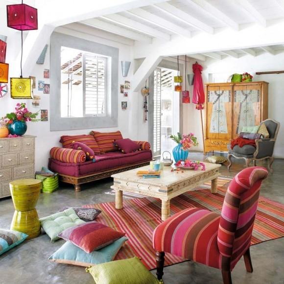 salones con decoracion arabe juvenil