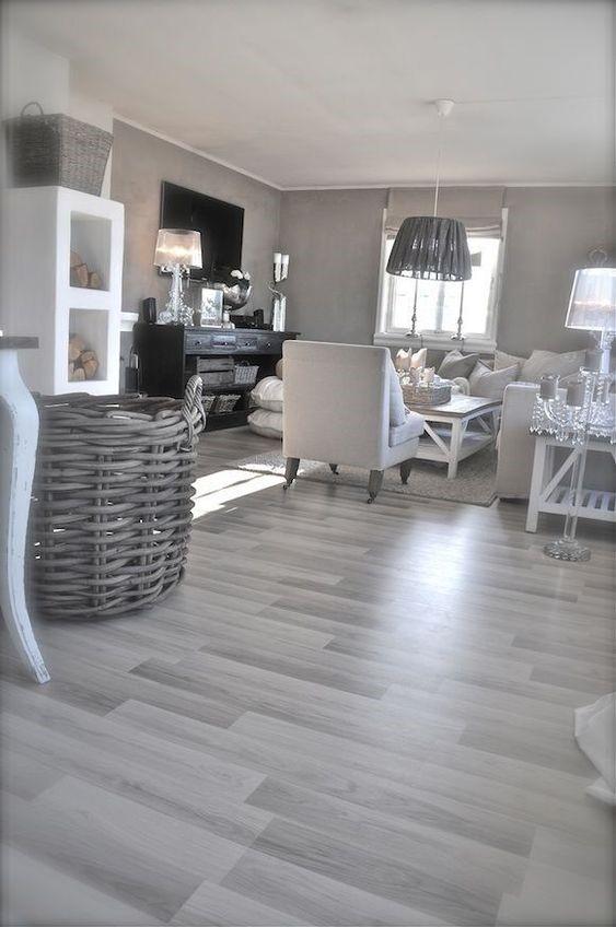 decoracion de salones pequeños con suelo gris