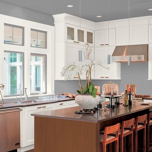 Cocinas con paredes grises elegante