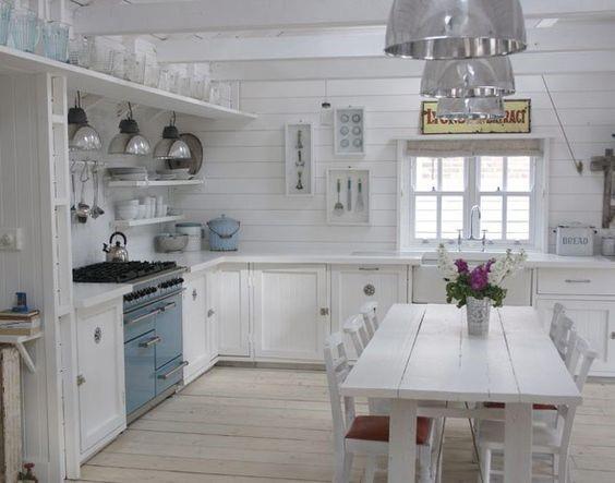 Cocinas comedor estilo rústico moderno blanco