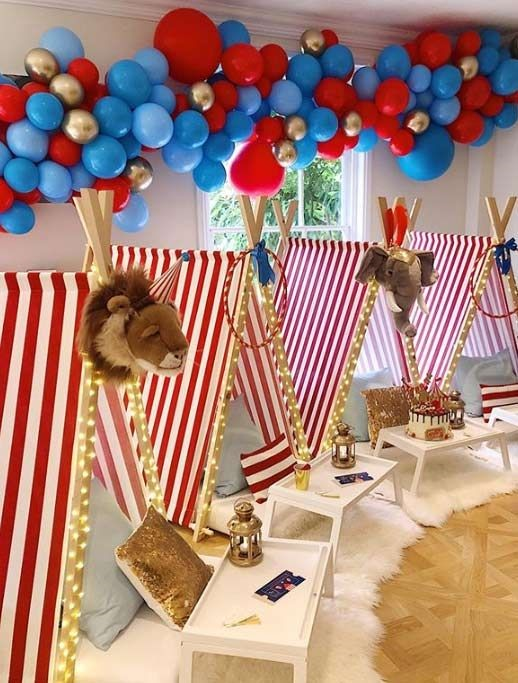 decoracion de cuartos para cumpleaños tematica de animales