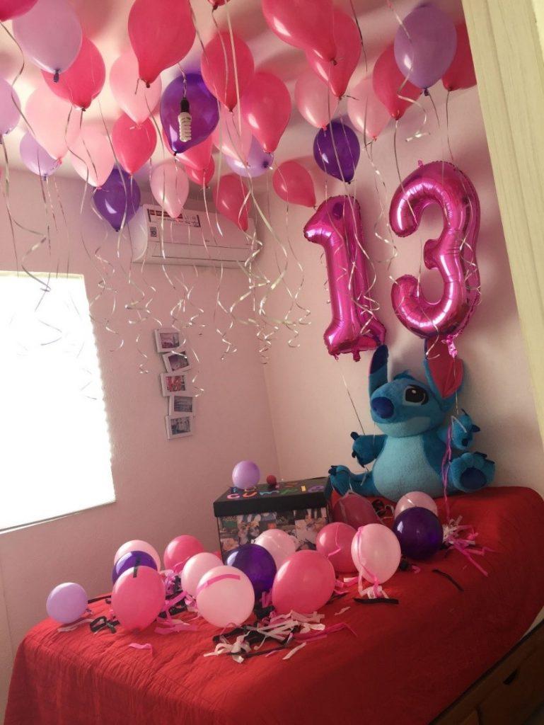 cuartos decorados con globos para cumpleaños