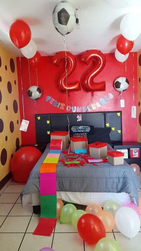 decoracion de cuartos para cumpleaños tematica de futbol