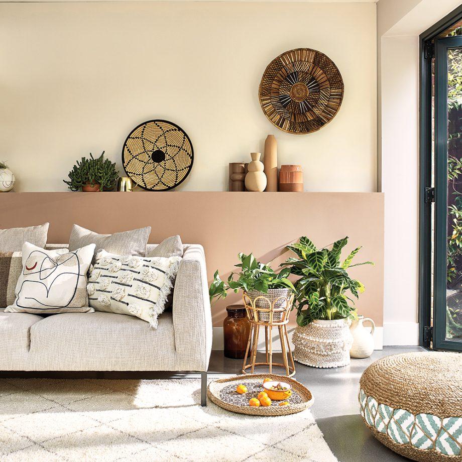 salon en dos colores: beige
