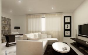 Salones pequeños y minimalistas