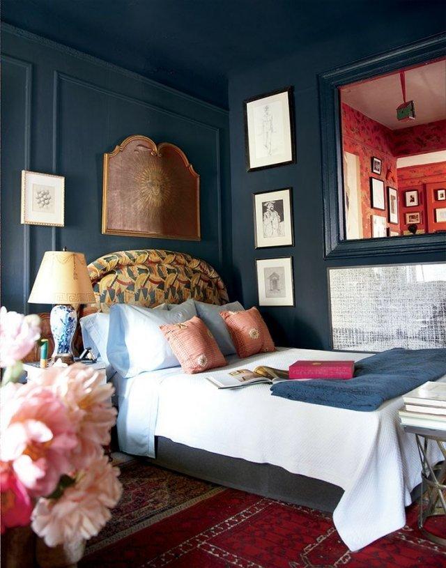 cuartos pintados bonitos azul cobalto