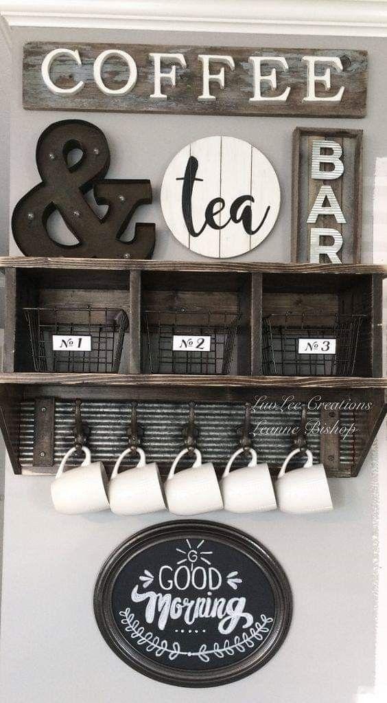 Decora con letras de madera tu cocina café