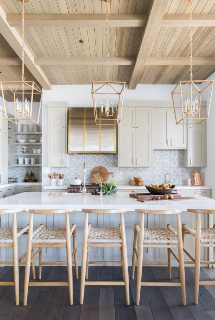 cocina farmhouse fresco y sencillo