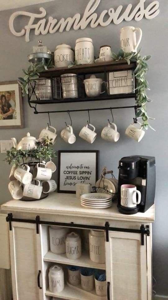 Estilo farmhouse para tu cocina de temática de café