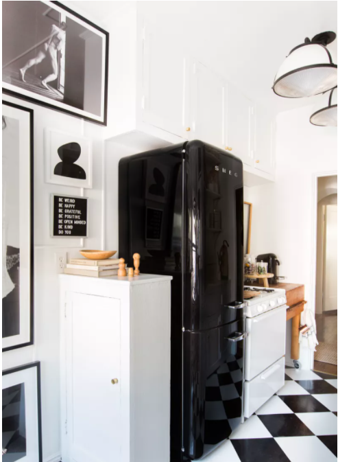 Añade glamour a tu cocina pequeña vintage