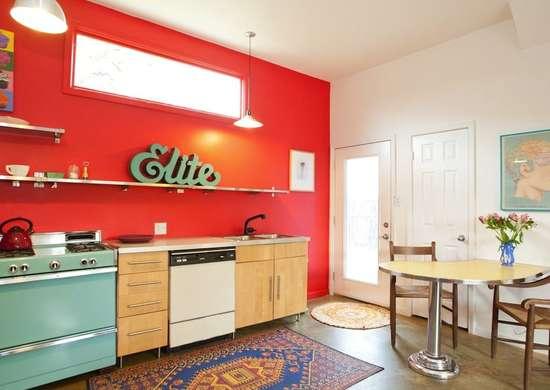 toque de color a tu cocina vintage pequeña