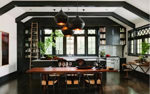 cocinas con paredes negras