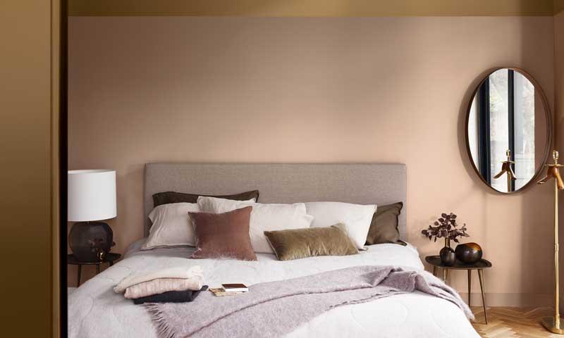 cuartos pintados bonitos color miel