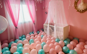 cuartos decorados con globos