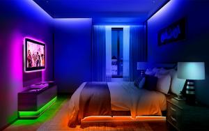 cuartos decorados con luces led