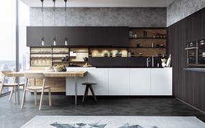 decoracion cocina blanco y negro
