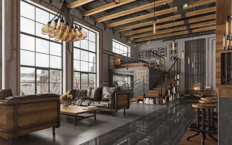 9 Ideas para decoración de salón con suelo gris - Decoratips