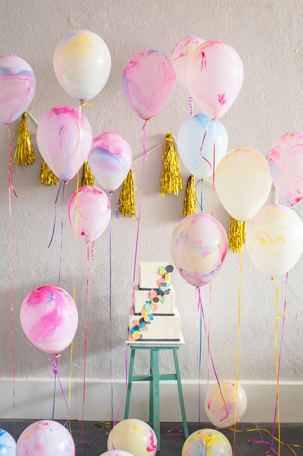 cuartos decorados globos marmoleados