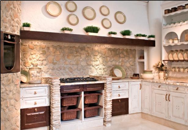 cocinas rusticas modernas de piedra