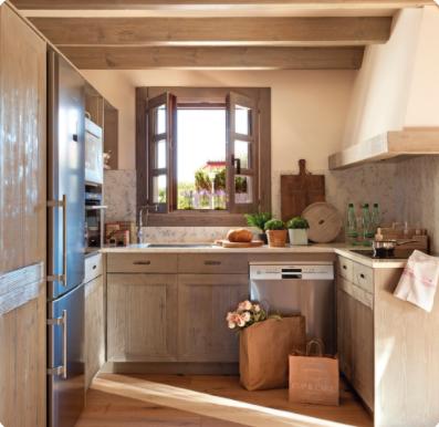 cocinas rusticas modernas y pequeñas
