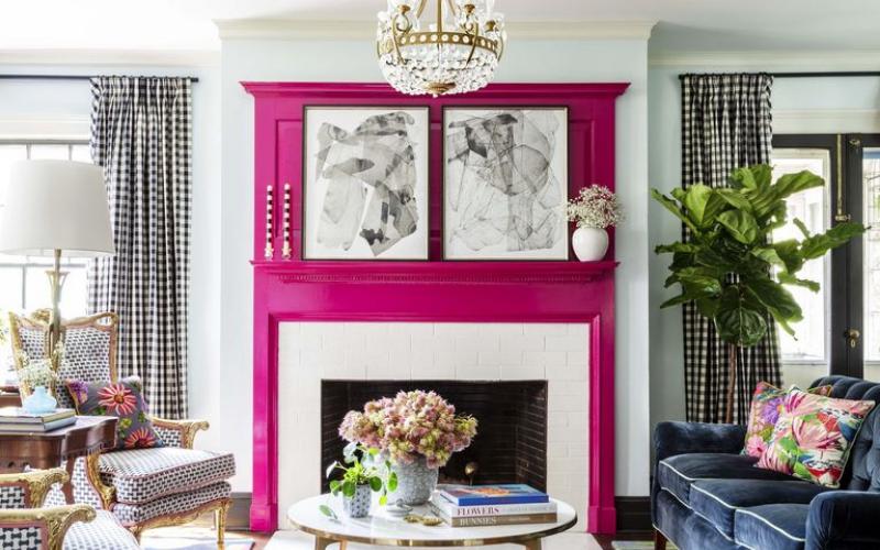 8 ideas para pintar la chimenea del salón - Decoratips