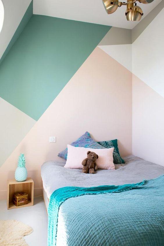 cuartos pintados bonitos geometrico