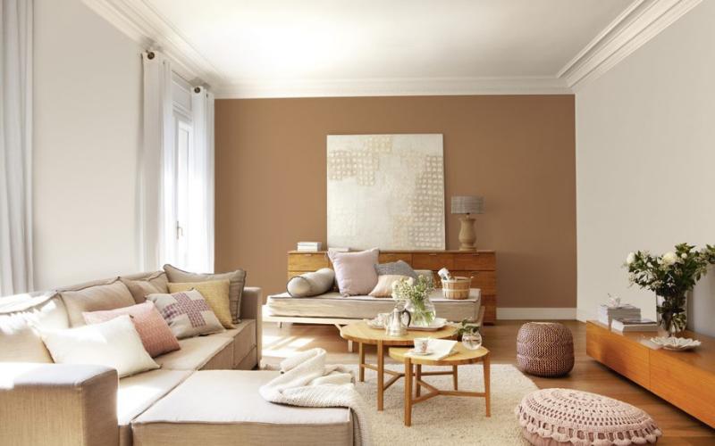 8 ideas para pintar solo una pared del salón - Decoratips