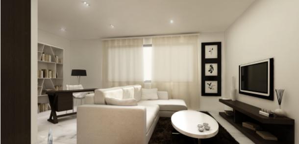 Salones pequeños y minimalistas funcionales