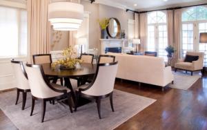 salon comedor clasico moderno