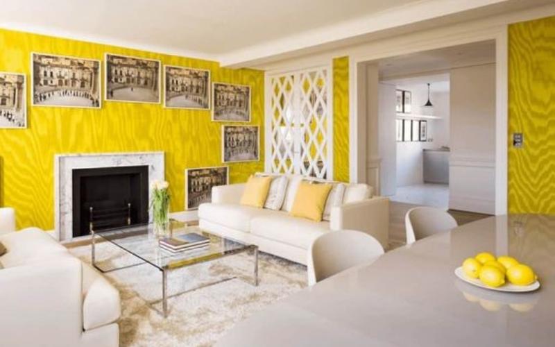 Salones Amarillos y Blancos: Una combinación con personalidad - Decoratips