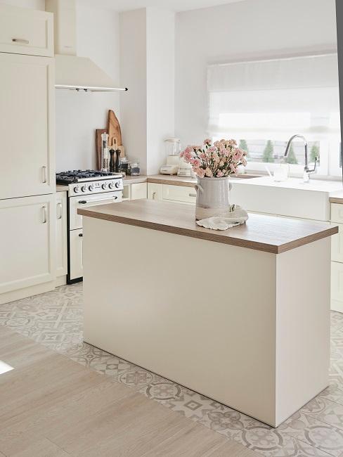 cocinas con paredes blancas sencilla