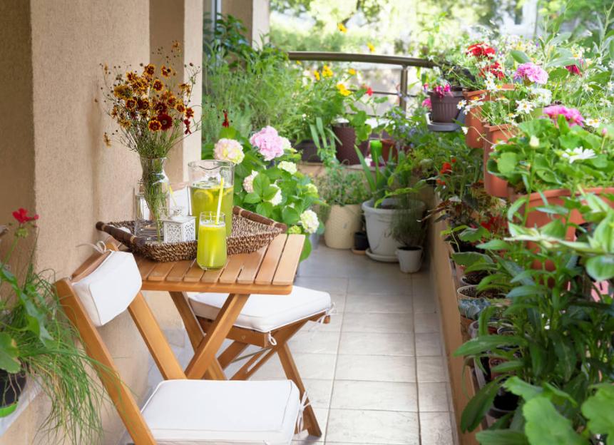Decorar terrazas y balcones pequeños con plantas