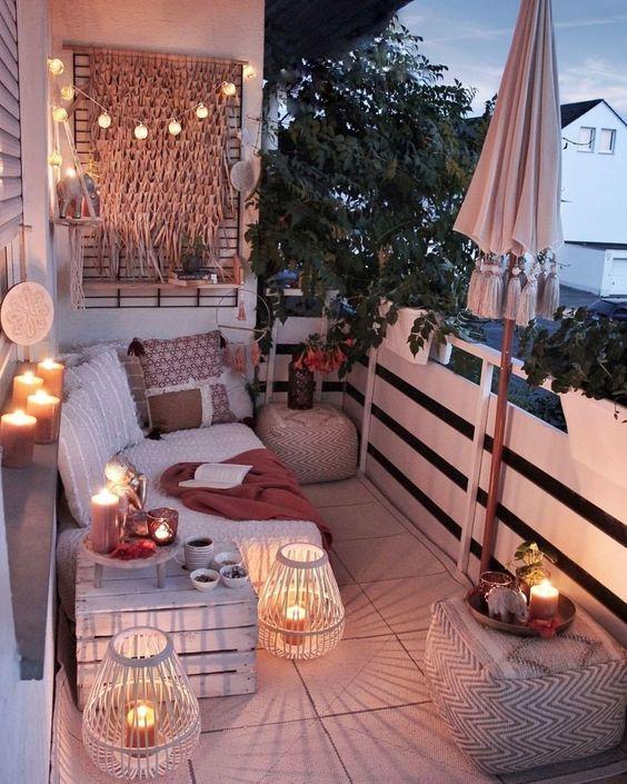 balcon Moderno, cómodo y chic para un ambiente especial