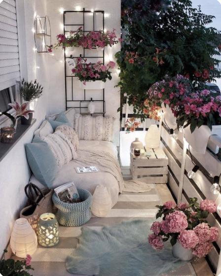 Decorar terrazas techadas romanticas