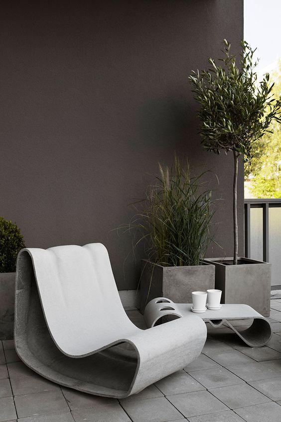 Decoración de patios pequeños minimalistas sofisticados