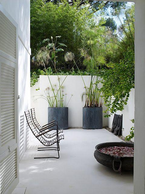 accesorios para Decoración de patios pequeños minimalistas
