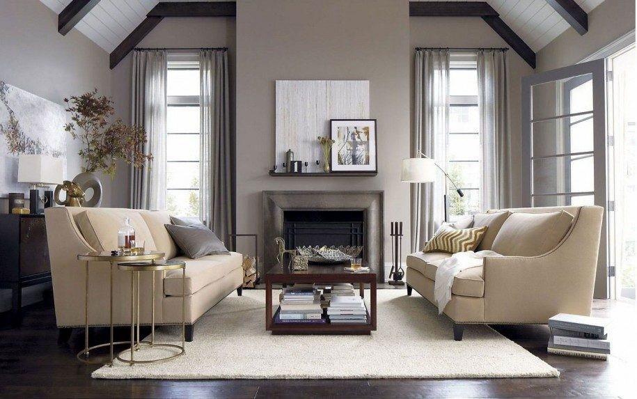 Un divino cara a cara de los sofás beige