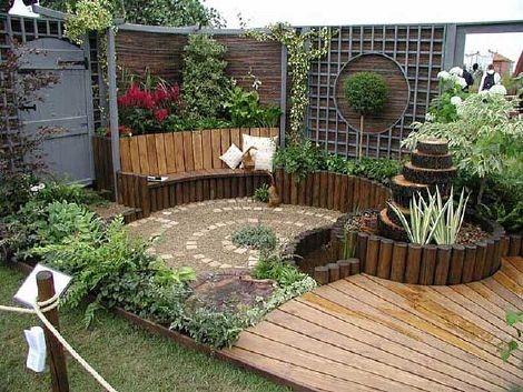 decorar patios internos con jardin